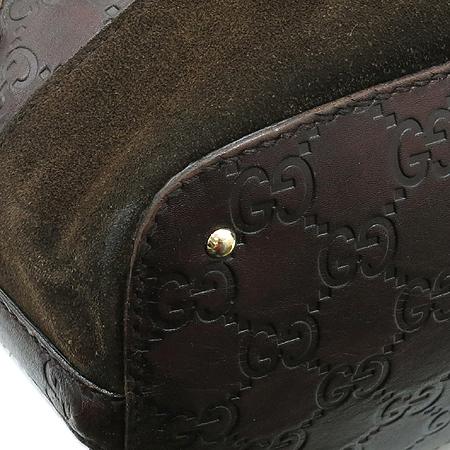 Gucci(구찌) 137385 다크 브라운 스웨이드 금장 홀스빗 장식 토트백