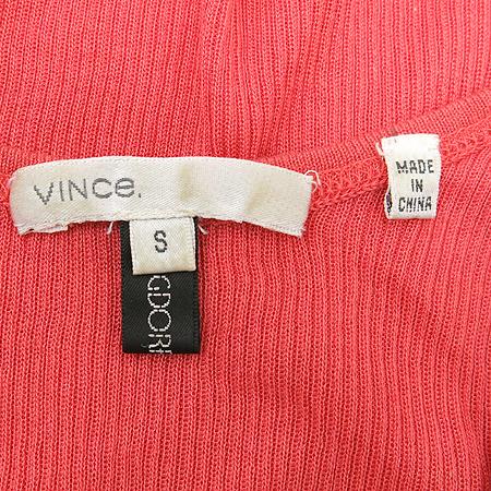 Vince(빈스) 핑크컬러 골지나시