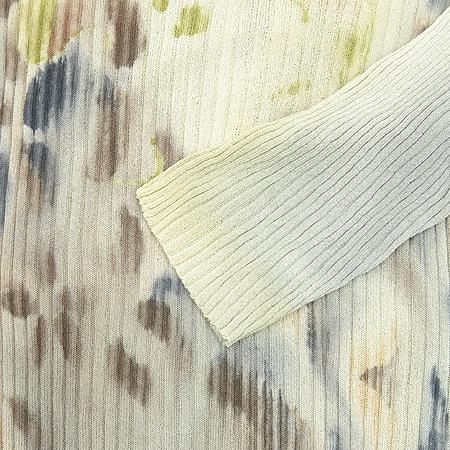 CAVALLI(카발리) 실크 베이지컬러 수채화패턴 가디건 (티 SET) [동대문점] 이미지6 - 고이비토 중고명품