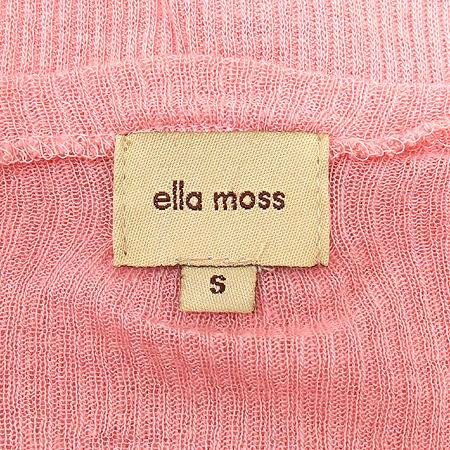 ELLA MOSS(엘라모스) 핑크컬러 골지 티
