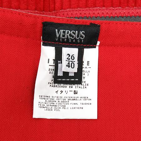 Versace(베르사체) VERSUS 레드컬러 벨벳 스커트