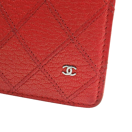 Chanel(샤넬) 레드펄 퀼팅 COCO로고 장지갑 [동대문점] 이미지3 - 고이비토 중고명품