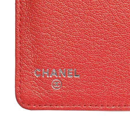 Chanel(샤넬) 레드펄 퀼팅 COCO로고 장지갑 [동대문점] 이미지5 - 고이비토 중고명품