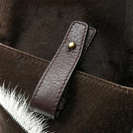 Ferragamo(페라가모) 21 5850 HORSE HAIR 브라운송치 레더 혼방 숄더백