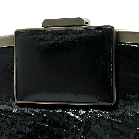 MARNI(마르니) 블랙 Calf(송아지) 클링클 레더 Top Lock 클러치백 이미지3 - 고이비토 중고명품