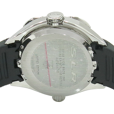 Tag Heuer(태그호이어) CAG2110 한정판 SLR MERCEDES-BENZ 크로노 그래프 오토매틱 가죽 밴드 남성용 시계