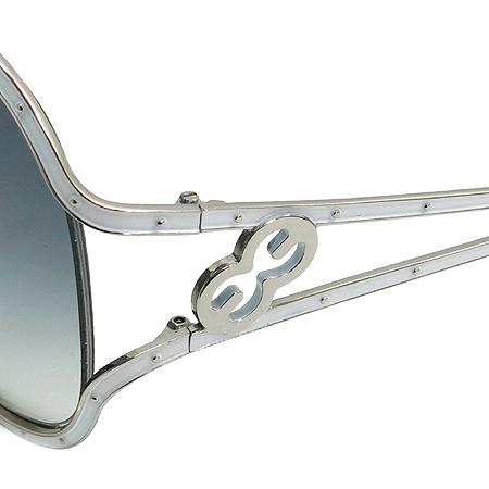 Escada(에스까다) SES613 화이트 컬러 로고장식 실버 메탈 오버라지 선글라스