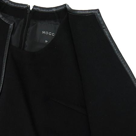 MOGG(모그) 블랙컬러 앙고라혼방 나시 원피스 (배색:양가죽)