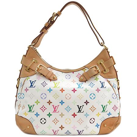 Louis Vuitton(루이비통) M40195 모노그램 캔버스 멀티 화이트 그레타 숄더백