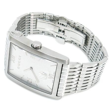 Gucci(구찌) 8600M 사각 스틸 쿼츠 남성용 시계