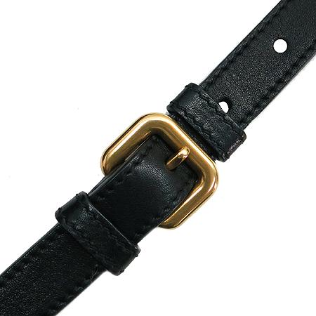 Prada(프라다) BR4259 골드 메탈 로고 블랙 레더 토트백 + 숄더스트랩