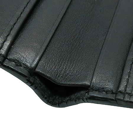 Hugo Boss(휴고보스) 이니셜 로고 블랙 레더 반지갑