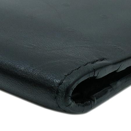 Hugo Boss(휴고보스) 이니셜 로고 블랙 레더 반지갑 이미지4 - 고이비토 중고명품