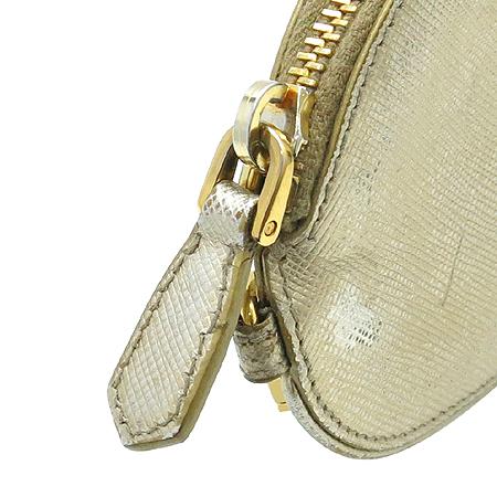 Prada(프라다) 1M1192 골드 메탈릭 사피아노 동전 지갑