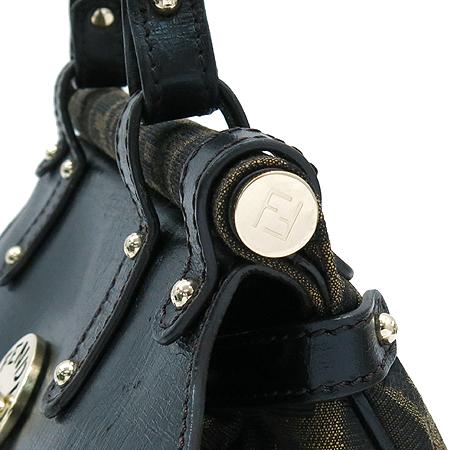 Fendi(펜디) 8BN144 금장 로고 장식 FF로고 패브릭 토트백 [압구정매장]