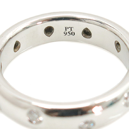 Tiffany(티파니) 12259433 PT950(플래티늄골드) ETOILE(에또알) 10포인트 브릴리언트 다이아 밴드 링 반지