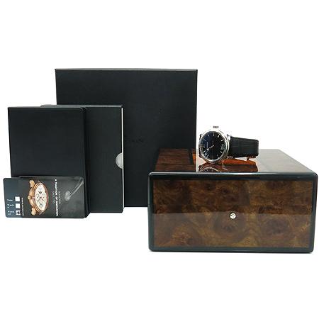 blancpain (블랑팡) 2850-1130A LEMAN BIG DATE 스틸 시스루백 가죽 밴드 오토매틱 남성용 시계