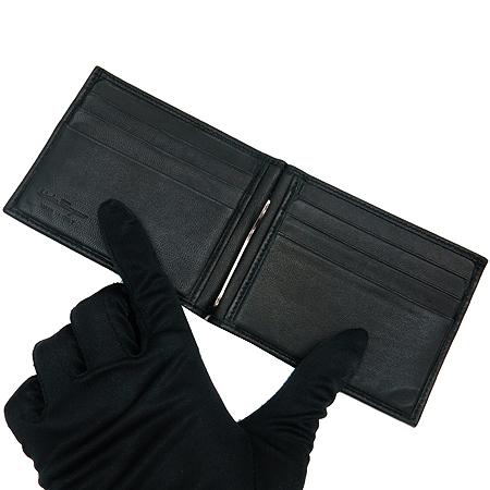 Ferragamo(페라가모) 66-9444 블랙 레더 간치니 로고 장식 머니클립 반지갑 [동대문점] 이미지5 - 고이비토 중고명품