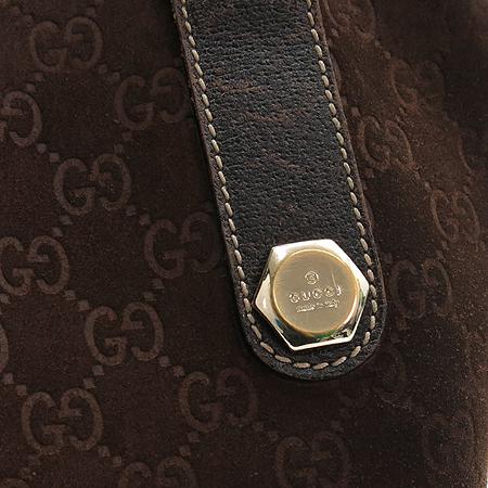 Gucci(구찌) 153009 GG 로고 스웨이드 바겟 숄더백