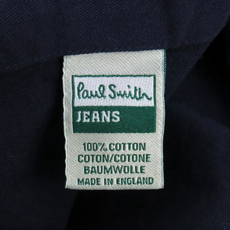 Paul Smith(폴스미스) 퍼플컬러 금장버튼 남방