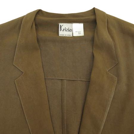 KRIZIA(크리지아) 브라운컬러 실크 자켓 이미지2 - 고이비토 중고명품