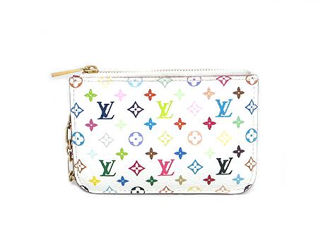Louis Vuitton(루이비통) M93734 모노그램 멀티 컬러 화이트 동전 지갑 겸 키홀더