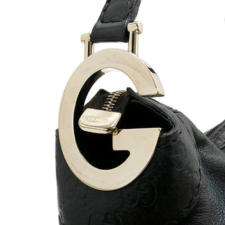 Gucci(구찌) 211810 골드 메탈 GG 로고 시마 레더 호보 숄더백