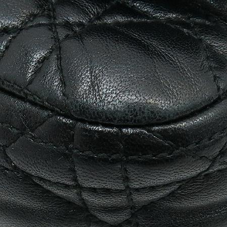 Dior(크리스챤디올) 까나쥬 랑데뷰 블랙 램스킨 레더 실버 메탈 체인 숄더백