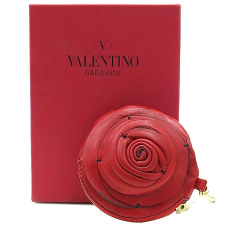 VALENTINO(발렌티노) 6WP00534 램스킨 레더 플라워 동전 지갑 겸 키홀더