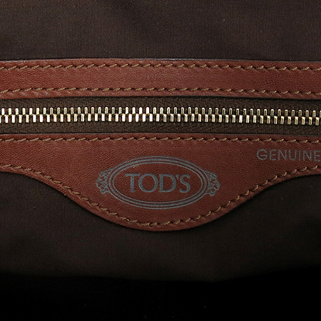 Tod's(토즈) 멀티 포켓 브라운 레더 숄더백