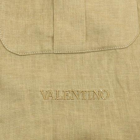 VALENTINO(발렌티노) 브라운컬러 2포켓 리넨 브라우스 (배색:실크100)