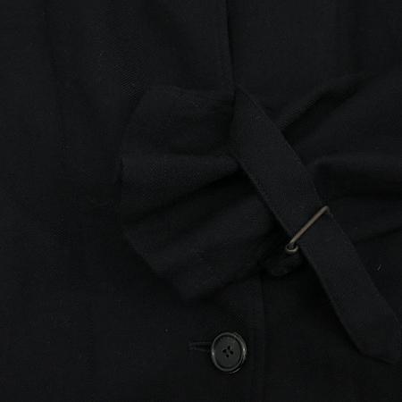 ANN DEMEULEMEESTER(앤 드뮬미스터) 블랙컬러 트렌치 코트 (벨트SET)