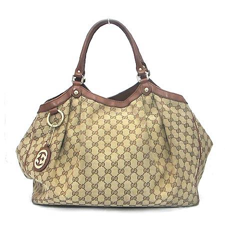 Gucci(구찌) 211943 GG 로고 자가드 수키 토트백 이미지2 - 고이비토 중고명품