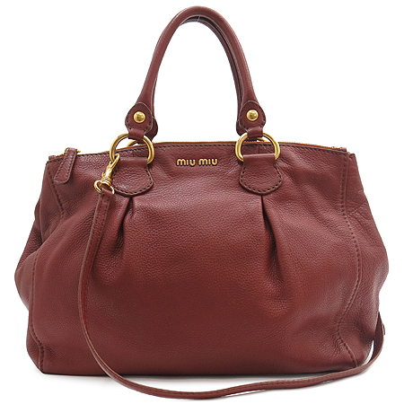 MiuMiu(�̿�̿�) RN0620 VITELLO CARIBU ����¤ ���� 2WAY