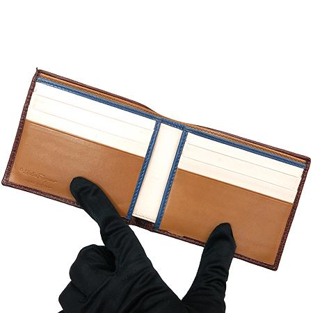 Ferragamo(페라가모) 66 7069 브라운레더 은장로고 6크레딧카드 반지갑 이미지3 - 고이비토 중고명품
