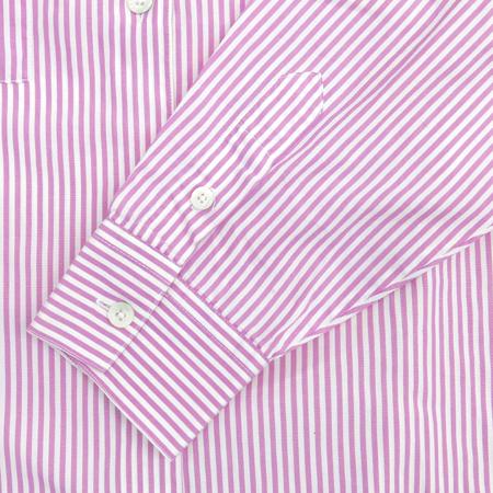 JAEGER 핑크, 화이트컬러 스트라이프 남방 (MADE IN ITALY)