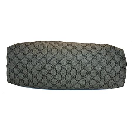Gucci(구찌) 211137 GG로고 PVC 브라운레더 트리밍 쇼퍼 숄더백 [명동매장]