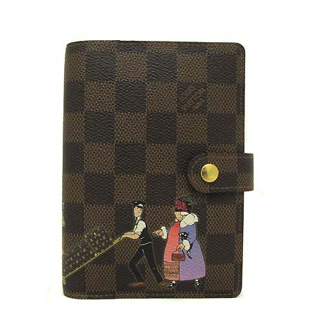 Louis Vuitton(루이비통) R21128 다미에 에벤 캔버스 일뤼스트레 스몰링 아젠다 커버 다이어리 [부천 현대점]