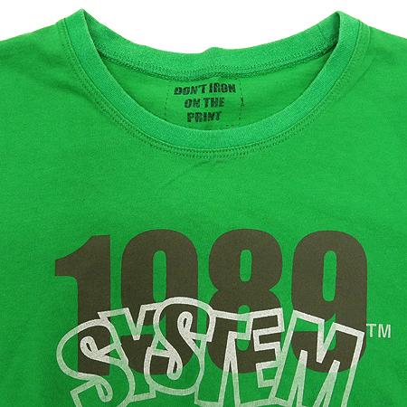 System(시스템) 그린컬러 반팔 티 이미지2 - 고이비토 중고명품