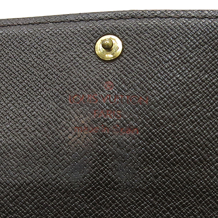 Louis Vuitton(루이비통) N61724 다미에 에벤 캔버스 포쉐트 월릿 장지갑