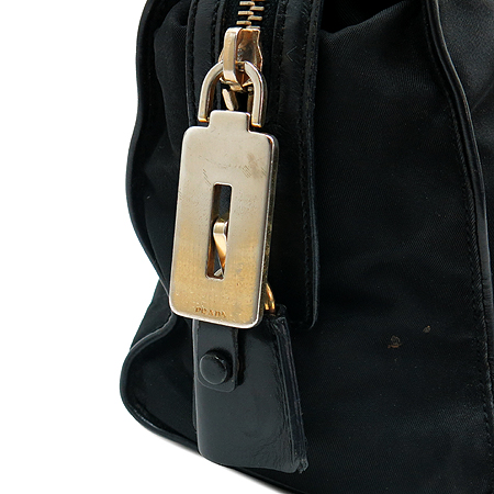Prada(프라다) 삼각 로고 장식 블랙 패브릭 토트백
