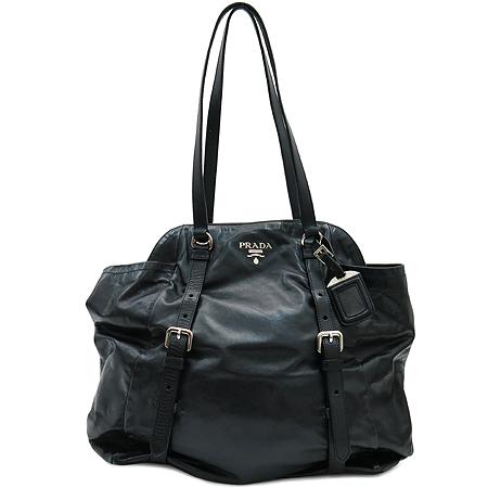 Prada(프라다) BR3907 삼각 로고 장식 블랙 레더 숄더백 [압구정매장]
