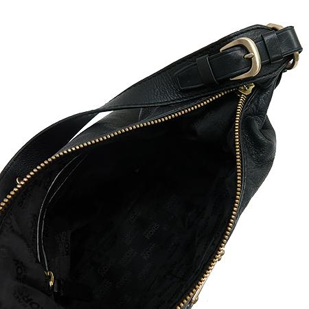 MICHAELKORS(마이클코어스) 금장 로고 장식 블랙 레더 숄더백