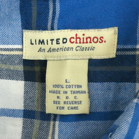 LIMITED CHINOS 블루컬러 체크 남방 (MADE IN TAIWAN)