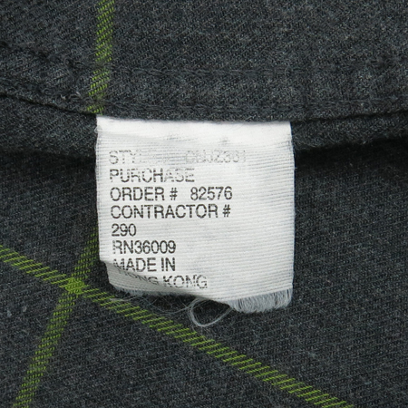 Calvin Klein(캘빈클라인) 그레이컬러 체크 남방