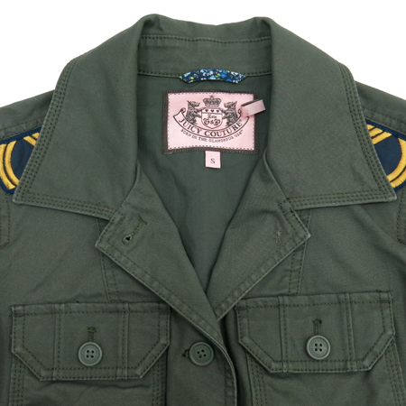 JUICY COUTURE(쥬시 꾸뛰르) 카키컬러 견장 자켓