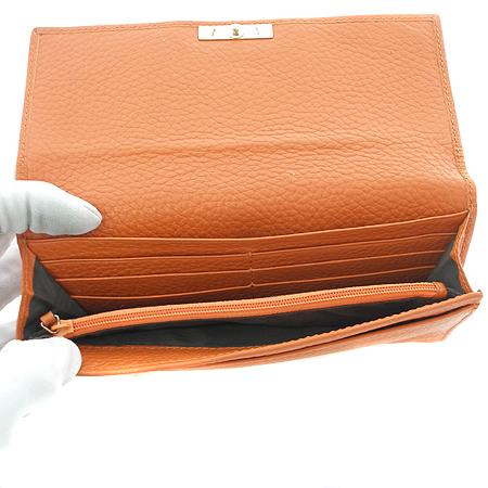 Gucci(구찌) 233051 뱀부 장식 오렌지 레더 여성용 장지갑