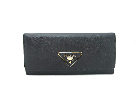 Prada(프라다) 1M1132 블랙 사피아노 삼각 로고 장지갑 이미지2 - 고이비토 중고명품
