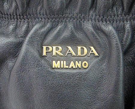 Prada(프라다) BR4302 블랙 레더 금장 로고 2WAY