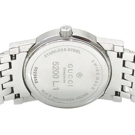 Gucci(구찌) 5200L 라운드 스틸 쿼츠 여성용 시계
